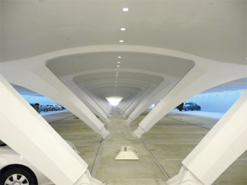Calatrava-designed garage
