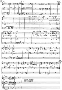 sample of Deerhoof's sheet music